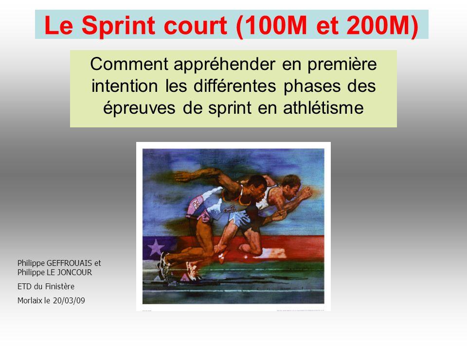 Le Sprint court (100M et 200M) Comment appréhender en première intention les différentes phases des épreuves de sprint en athlétisme.