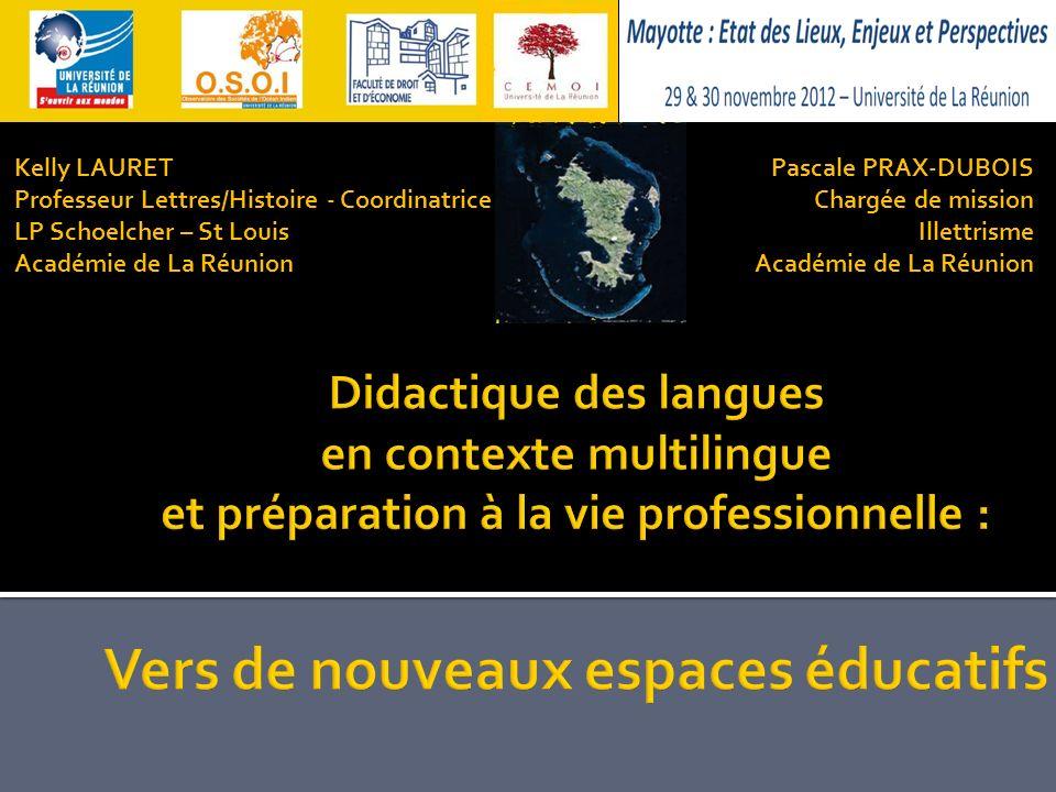 Kelly LAURETProfesseur Lettres/Histoire - Coordinatrice. LP Schoelcher – St Louis. Académie de La Réunion.