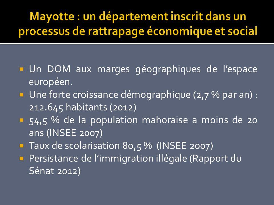 Mayotte : un département inscrit dans un processus de rattrapage économique et social