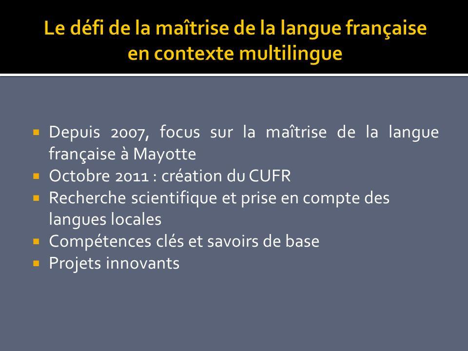 Le défi de la maîtrise de la langue française en contexte multilingue