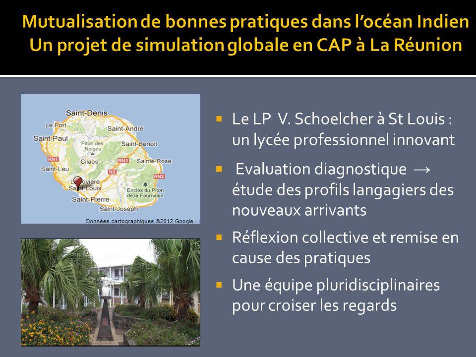 Mutualisation de bonnes pratiques dans l'océan Indien Un projet de simulation globale en CAP à La Réunion