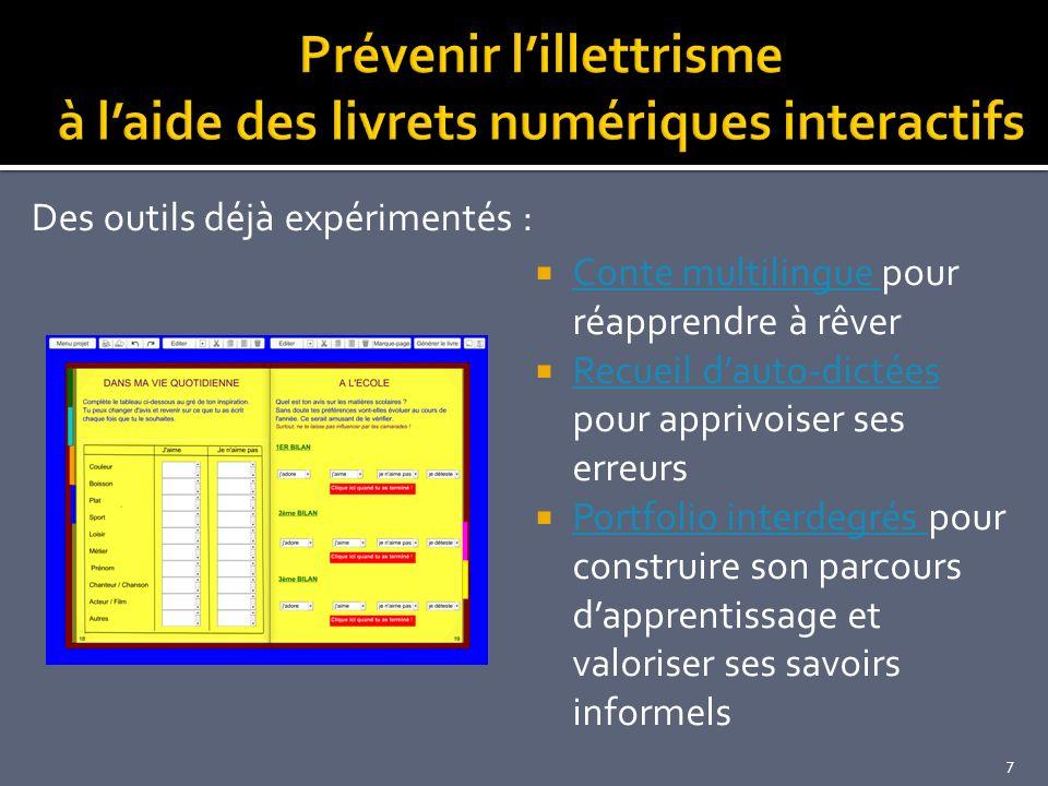Prévenir l'illettrisme à l'aide des livrets numériques interactifs