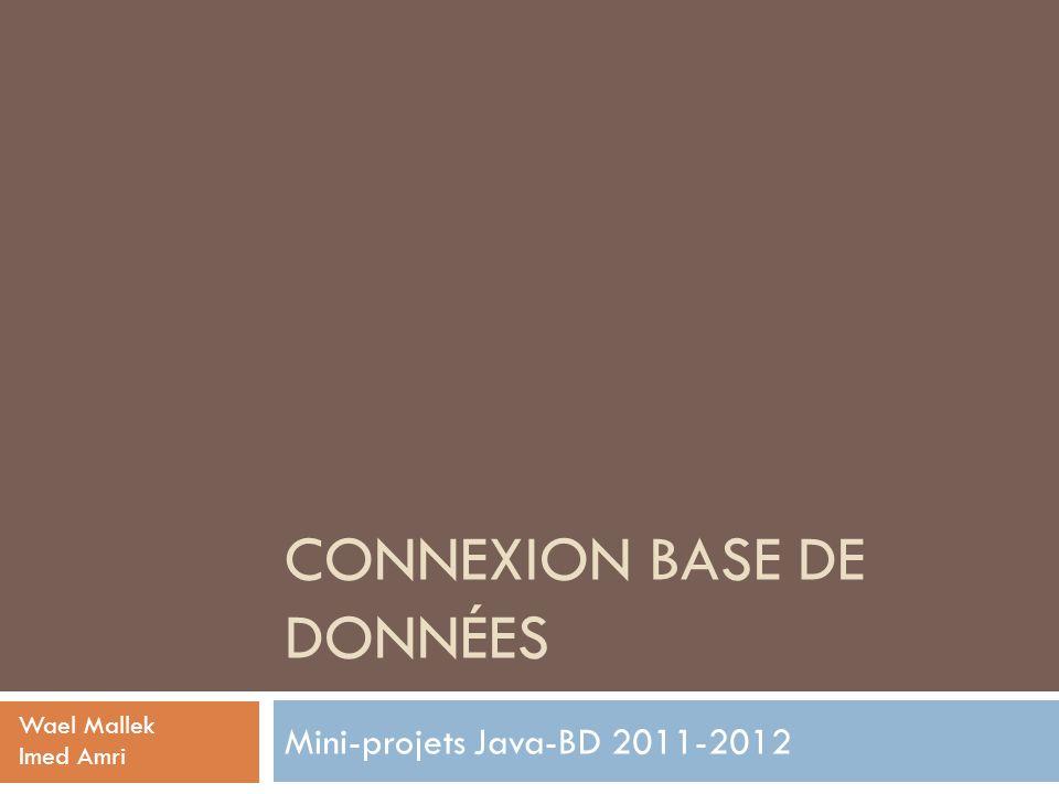 Connexion base de données