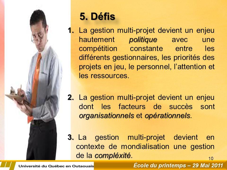 5. Défis