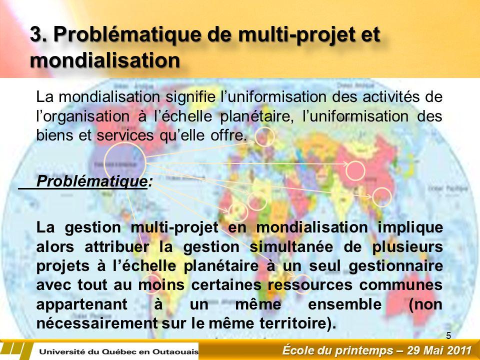 3. Problématique de multi-projet et mondialisation