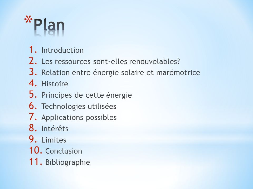 Plan Introduction Les ressources sont-elles renouvelables