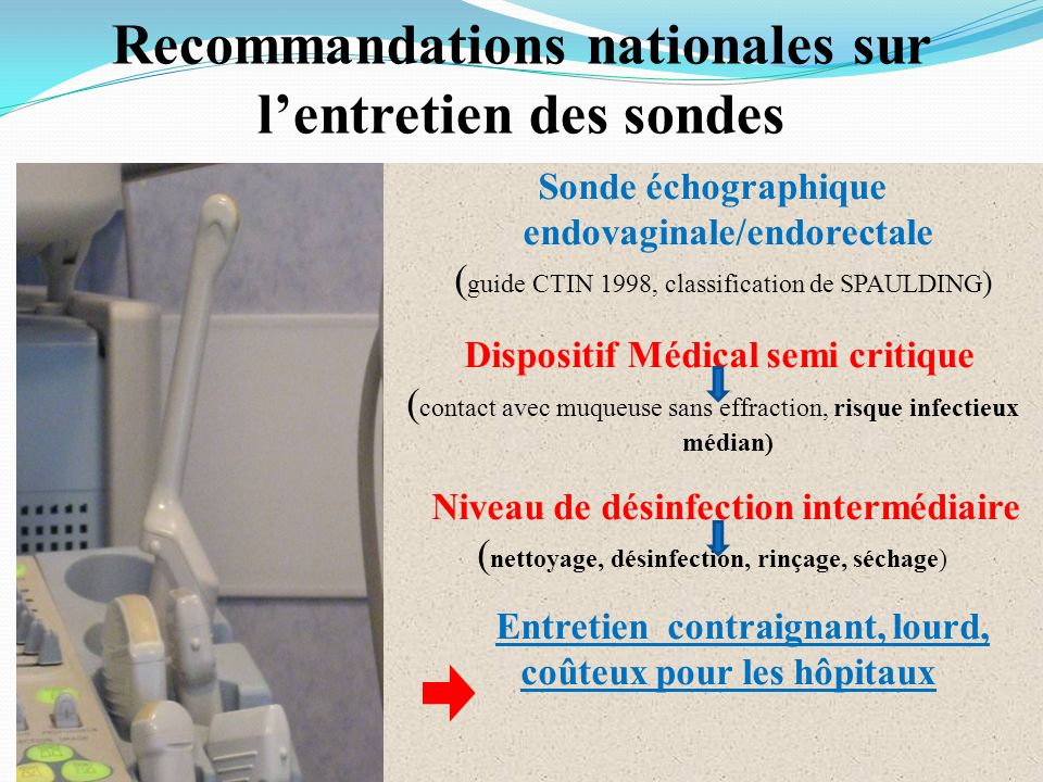 Recommandations nationales sur l'entretien des sondes