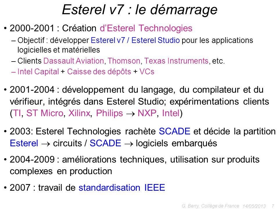Esterel v7 : le démarrage