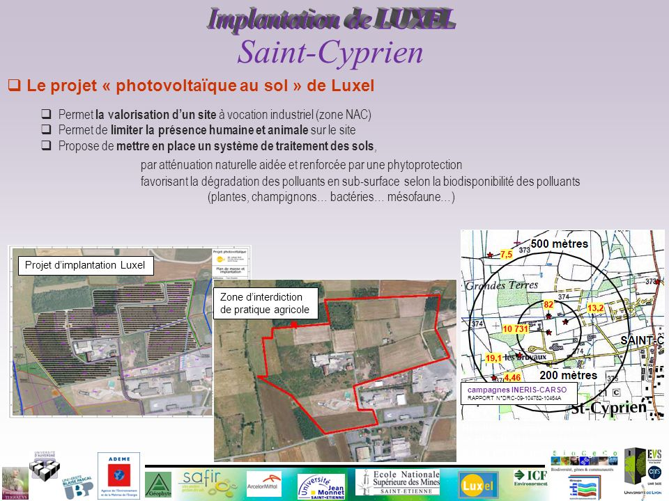 Implantation de LUXEL Saint-Cyprien