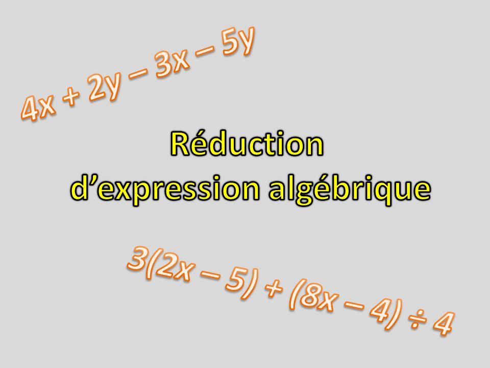 d'expression algébrique