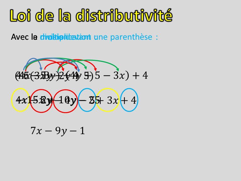 Loi de la distributivité