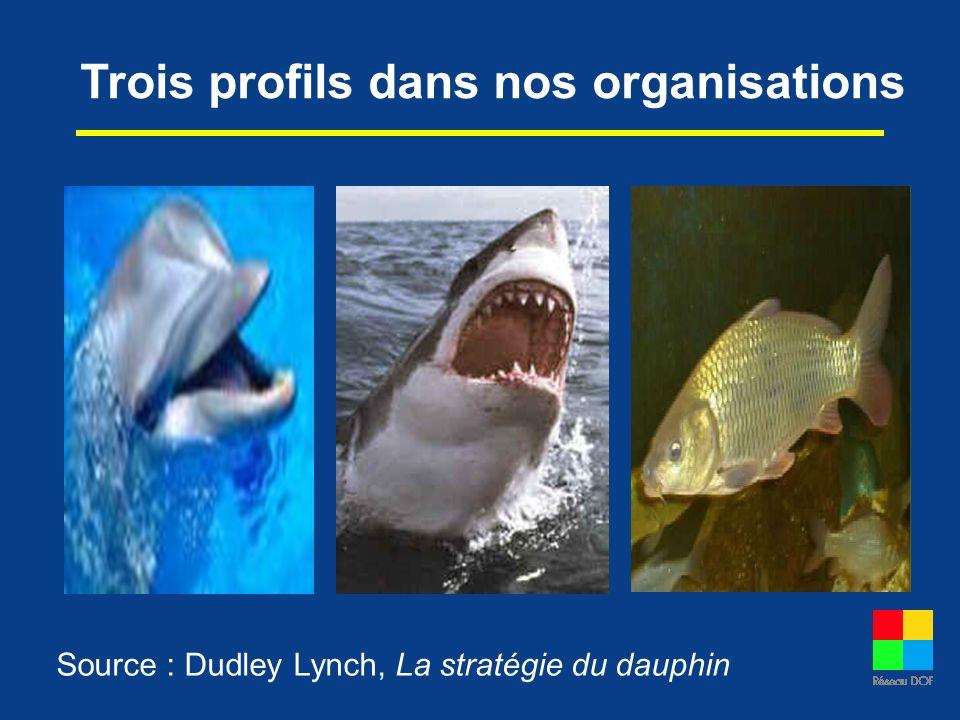 Trois profils dans nos organisations