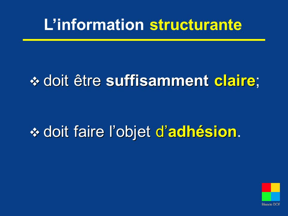 L'information structurante
