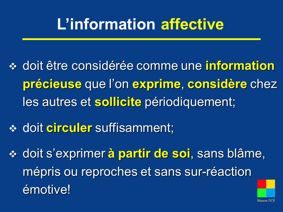 L'information affective