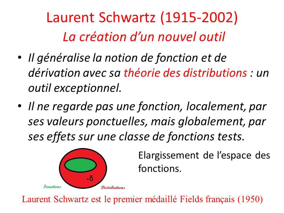 Laurent Schwartz (1915-2002) La création d'un nouvel outil