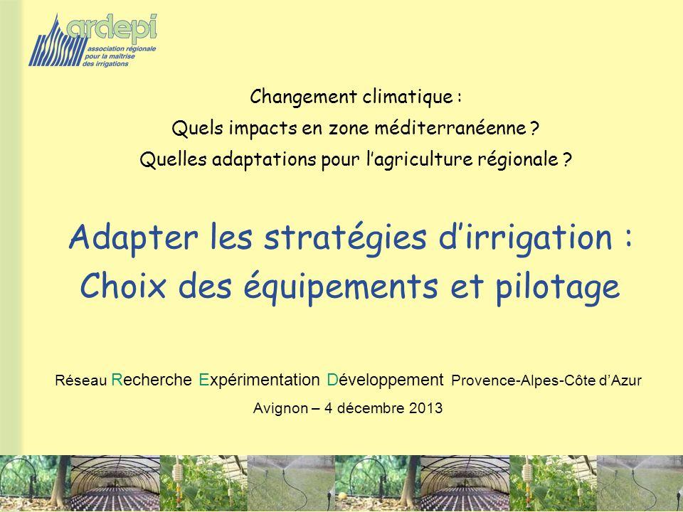 Adapter les stratégies d'irrigation :