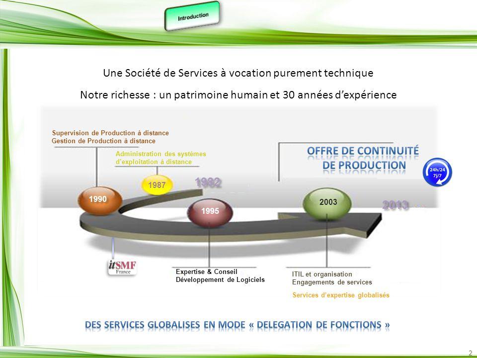 DES SERVICES GLOBALISES EN MODE « DELEGATION DE FONCTIONS »
