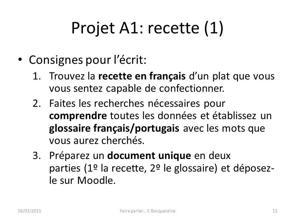 Faire parler... F. Bacquelaine
