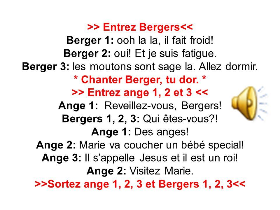 >>Sortez ange 1, 2, 3 et Bergers 1, 2, 3<<