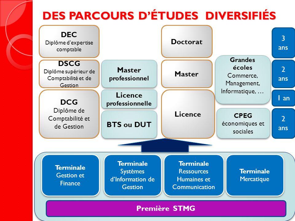 DES PARCOURS D'ÉTUDES DIVERSIFIÉS Licence professionnelle