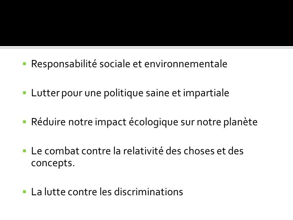 Responsabilité sociale et environnementale