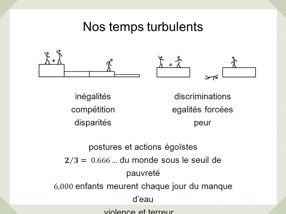 Nos temps turbulents inégalités compétition disparités discriminations