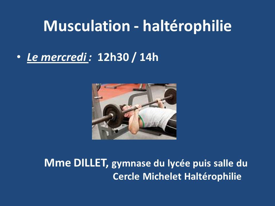 Musculation - haltérophilie