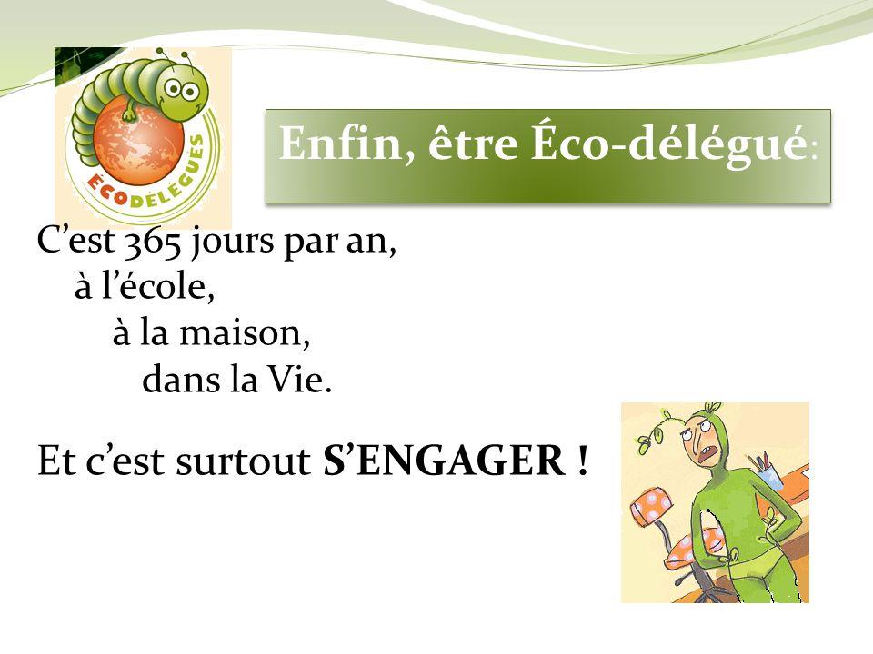 Enfin, être Éco-délégué:
