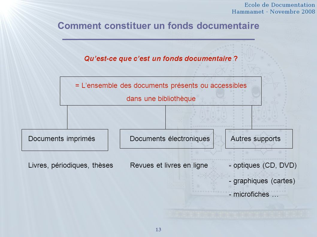 Comment constituer un fonds documentaire