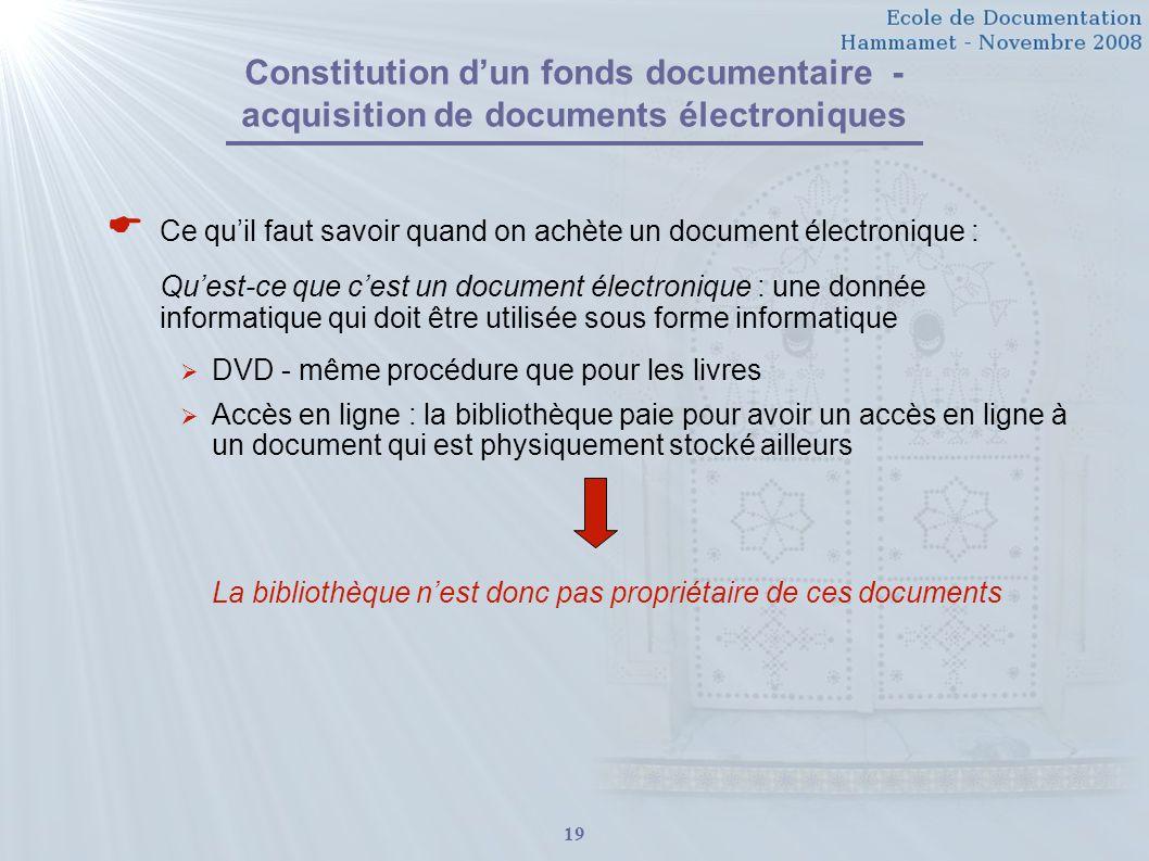  Ce qu'il faut savoir quand on achète un document électronique :