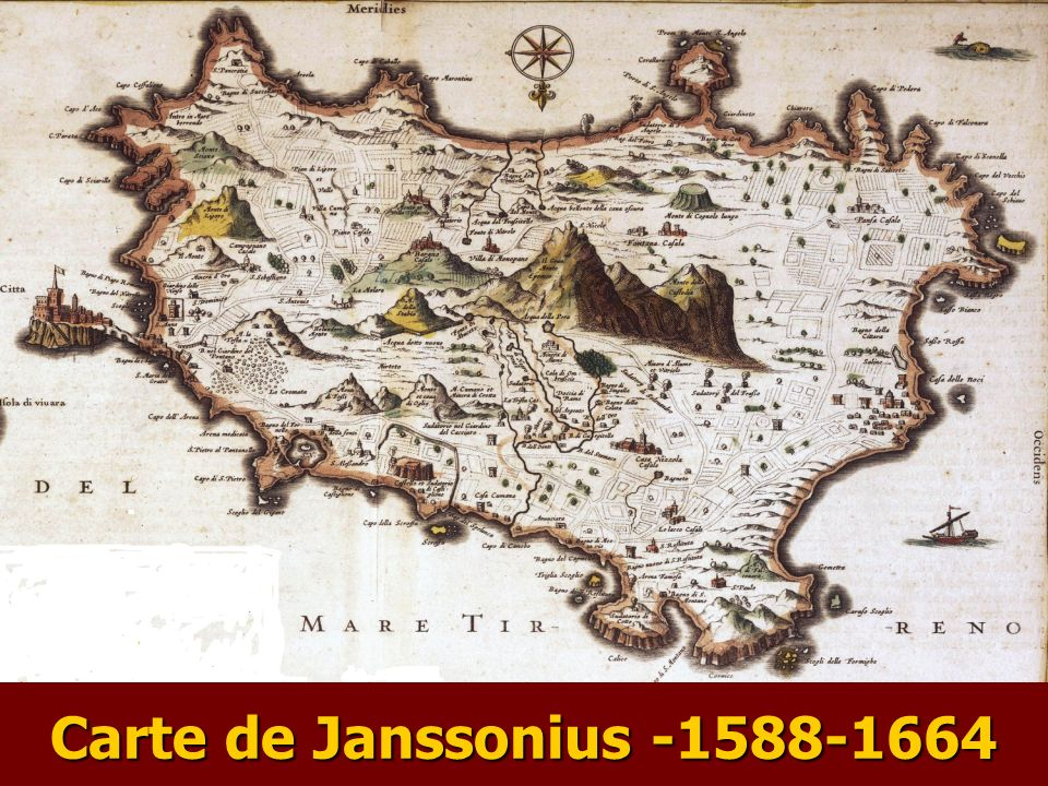 Carte de Janssonius -1588-1664