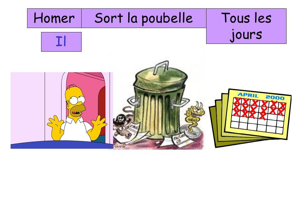 Homer Sort la poubelle Tous les jours Il