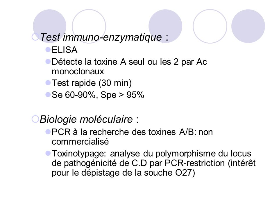 Test immuno-enzymatique :