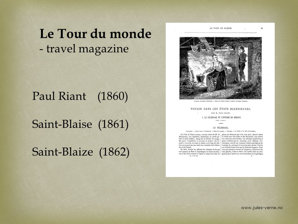 Le Tour du monde - travel magazine