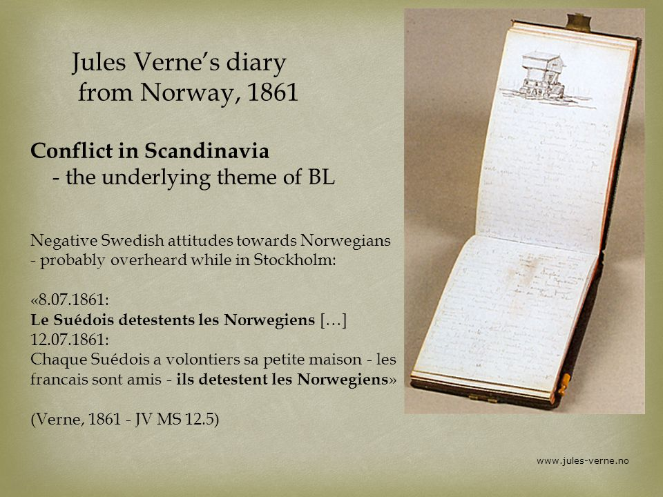 Jules Verne's diary from Norway, 1861