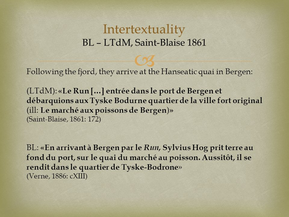 Intertextuality BL – LTdM, Saint-Blaise 1861