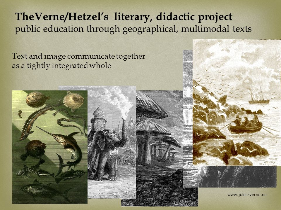 TheVerne/Hetzel's literary, didactic project public education through geographical, multimodal texts