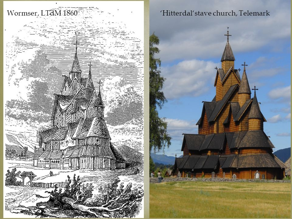 Visual intertexts Wormser, LTdM 1860 'Hitterdal'stave church, Telemark