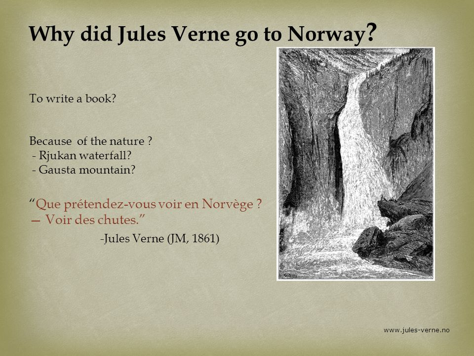 Why did Jules Verne go to Norway
