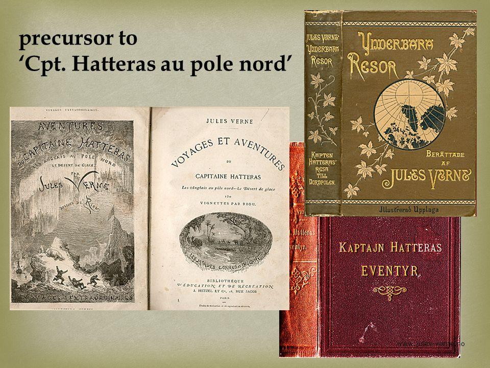 precursor to 'Cpt. Hatteras au pole nord'
