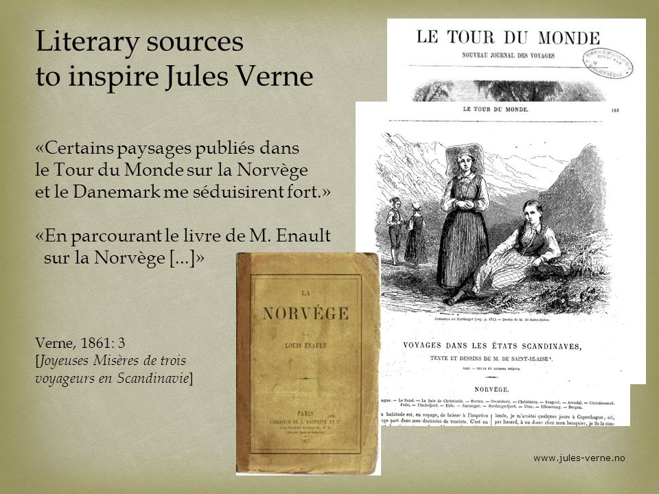 Literary sources to inspire Jules Verne