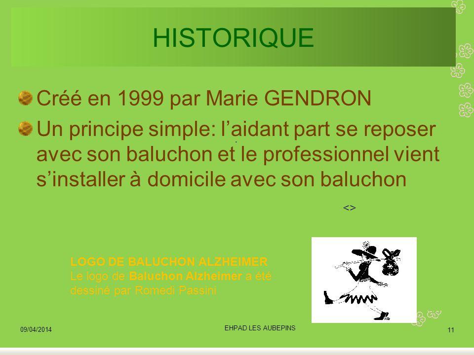 HISTORIQUE Créé en 1999 par Marie GENDRON