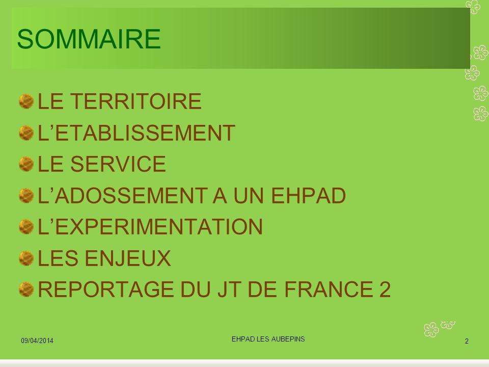 SOMMAIRE LE TERRITOIRE L'ETABLISSEMENT LE SERVICE