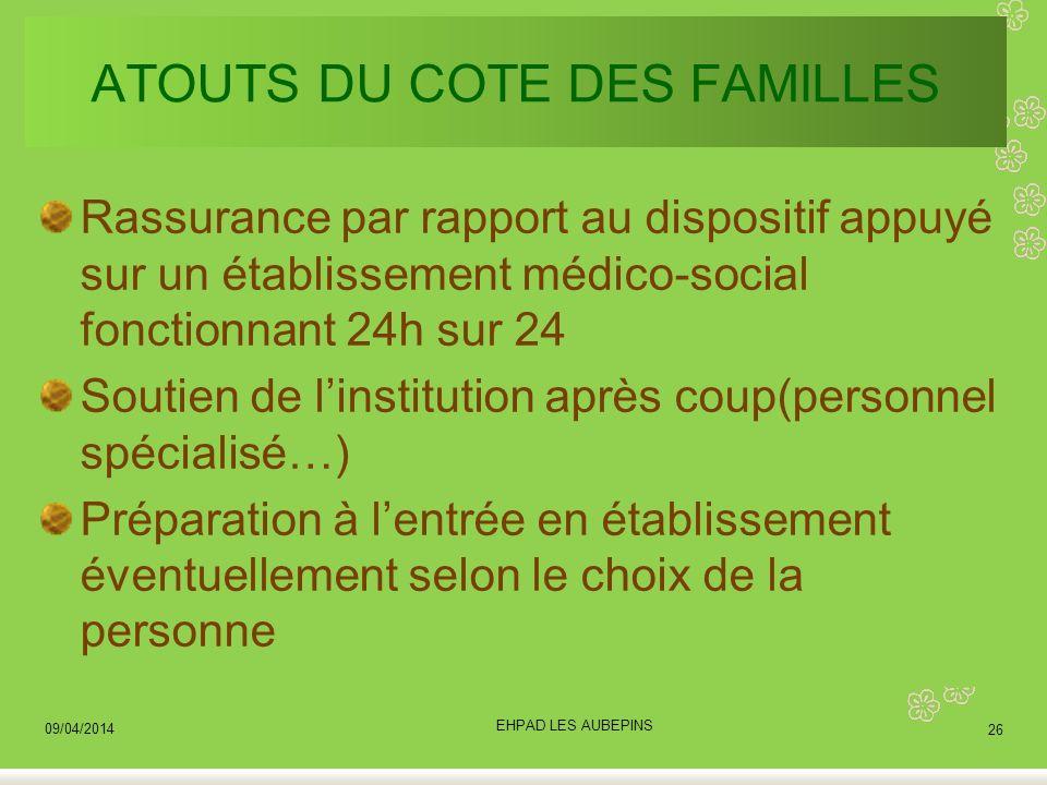 ATOUTS DU COTE DES FAMILLES
