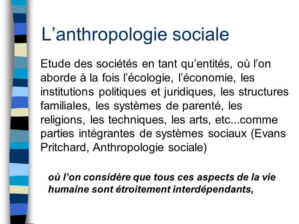 L'anthropologie sociale