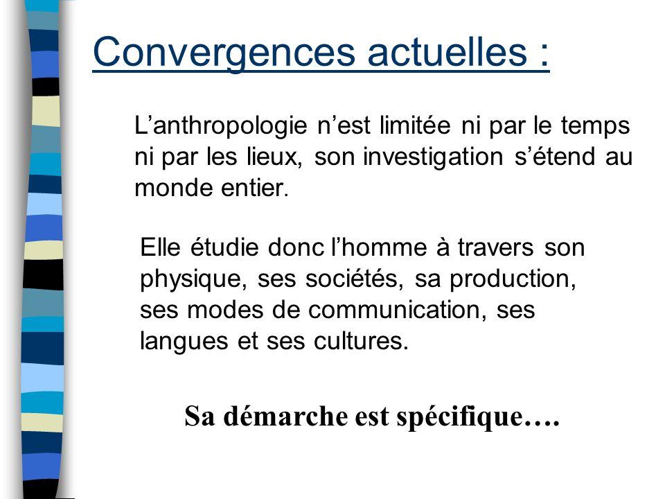 Convergences actuelles :