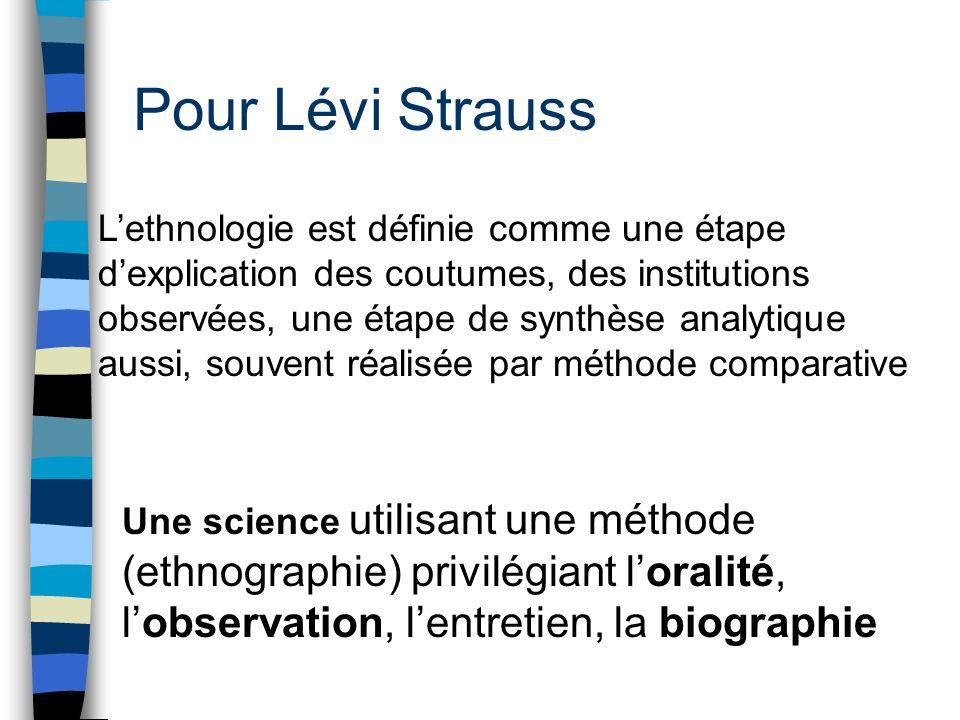 Pour Lévi Strauss