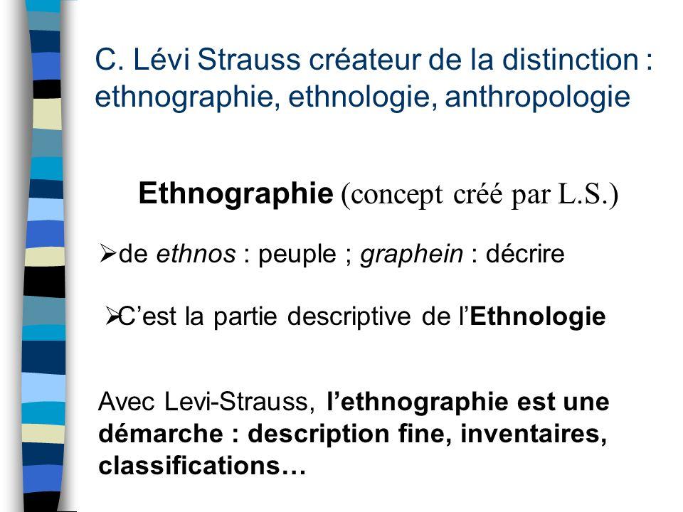 Ethnographie (concept créé par L.S.)