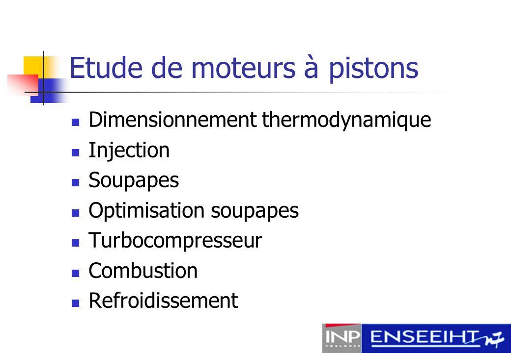 Etude de moteurs à pistons