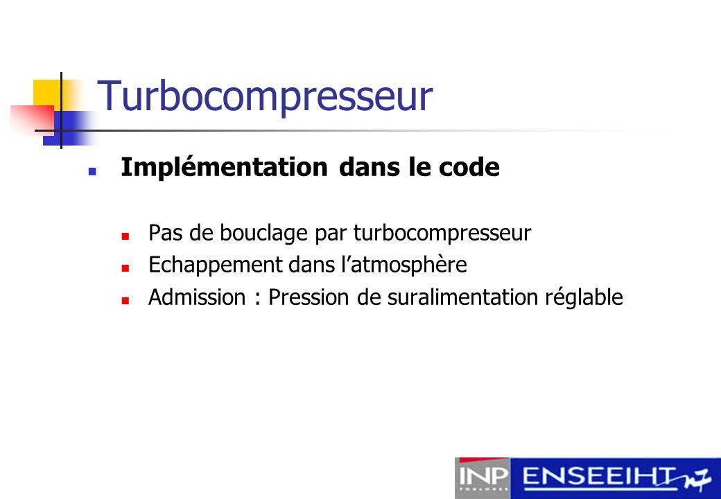 Turbocompresseur Implémentation dans le code